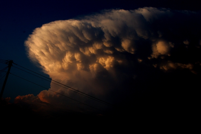 Sunset Starting on the Anvil Cloud by h.wilson