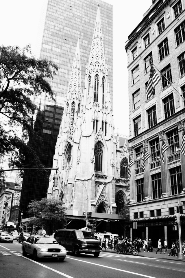 New York Church Steeple - B&W by h.wilson